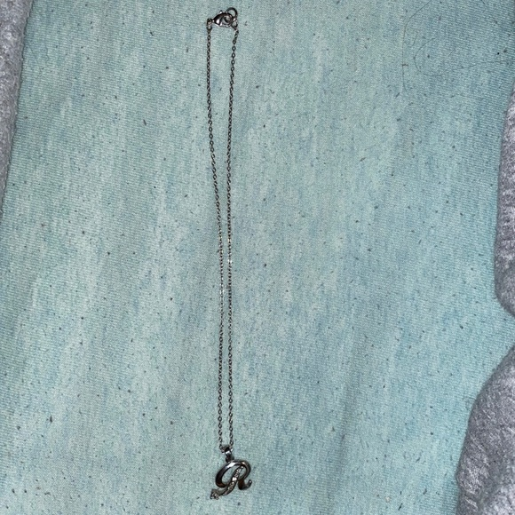 Initial 'R' Necklace